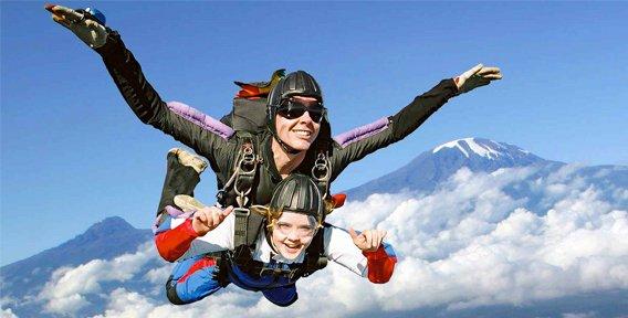 идея за подарък - скок с парашут