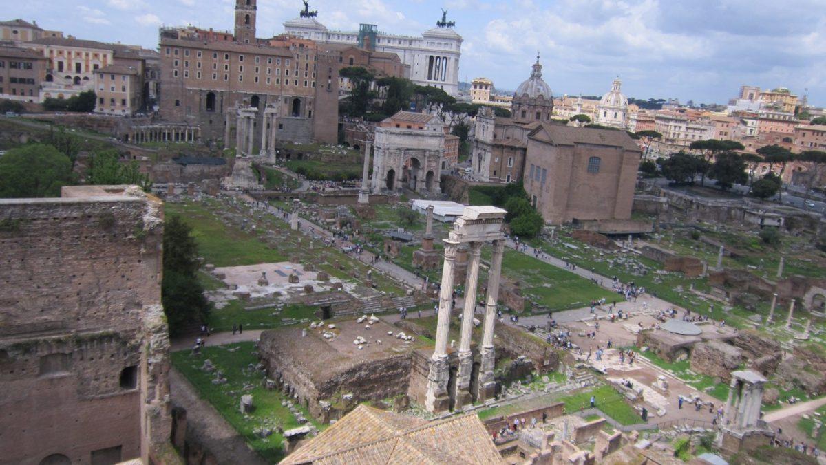 Римският форум от високо