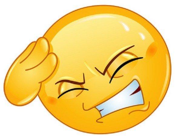 емотикон главоболие