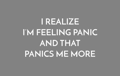 realizing panic