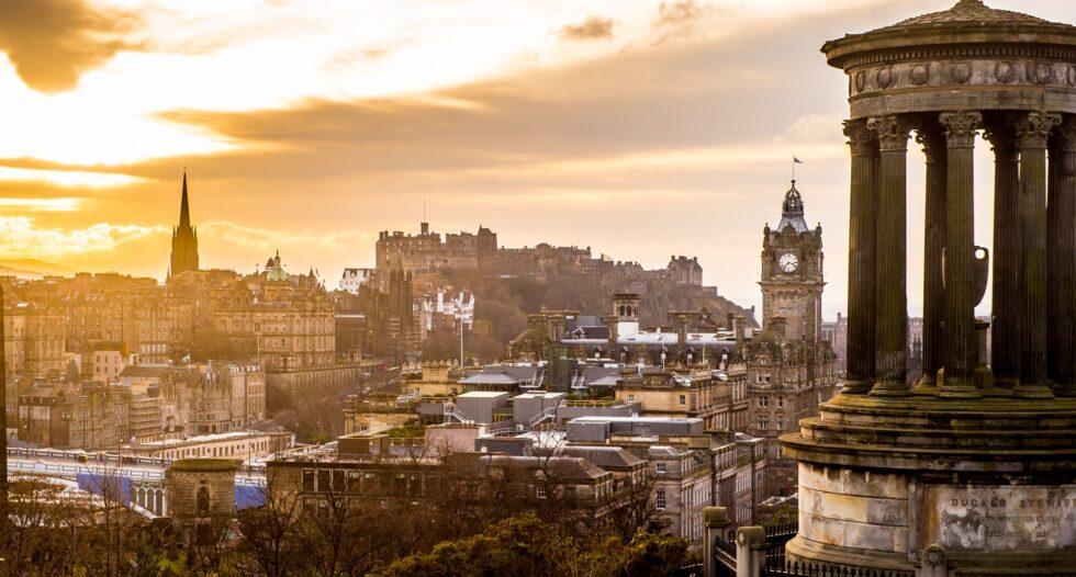 гледка Единбург