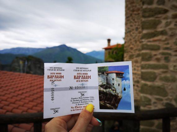 билет за манастир