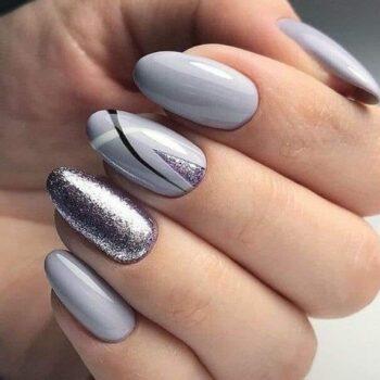 идеи в сиво за нокти