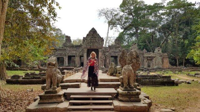 из храмовете на Ангкор