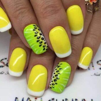летен маникюр жълт