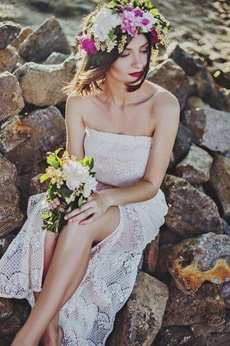 сватбена прическа за къса коса