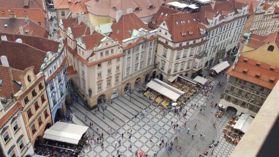 Прага от високо