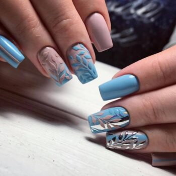 сини оригинални нокти