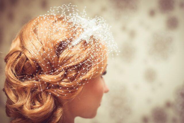 прибрана коса булчинска прическа