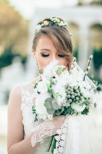 висок сватбен кок