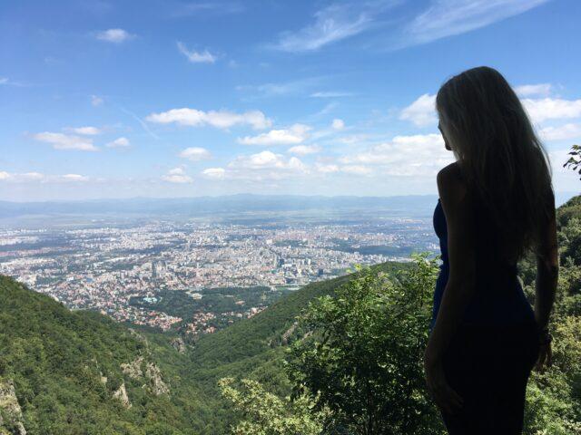 гледка над Боянския водопад