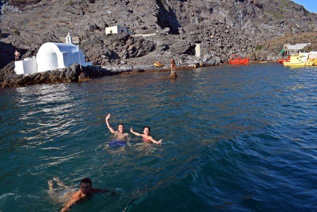 сярен басейн Санторини