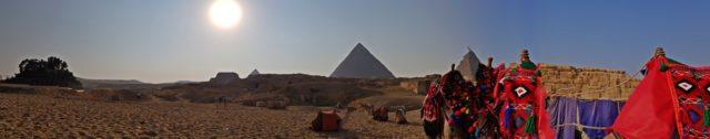 панорама пирамиди в Гиза