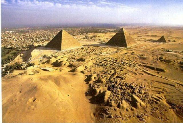 пирамидите от високо