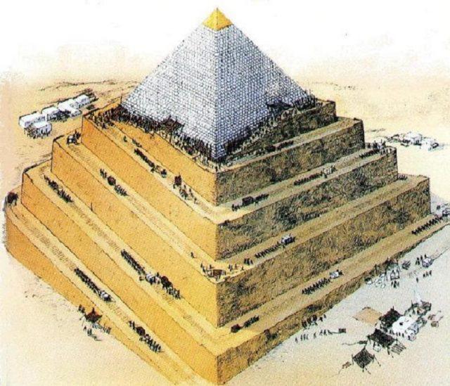 построяване на пирамидите