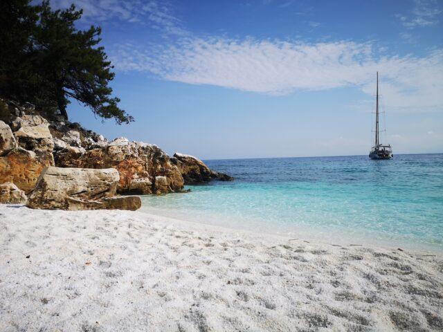 мраморен плаж Тасос