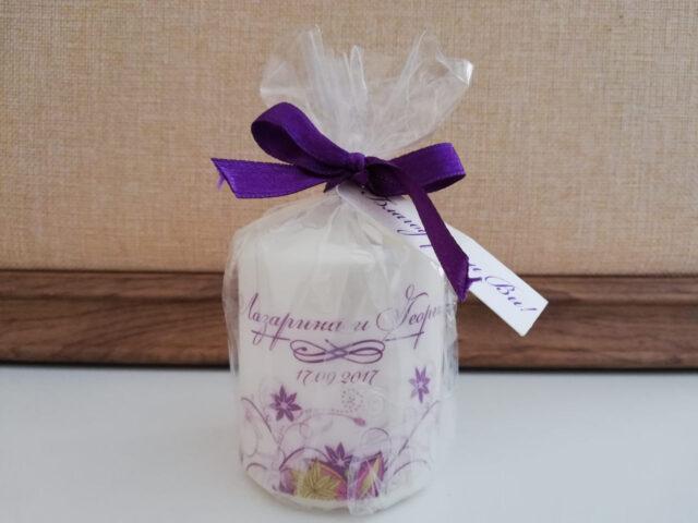свещ практичен подарък за гости за сватба